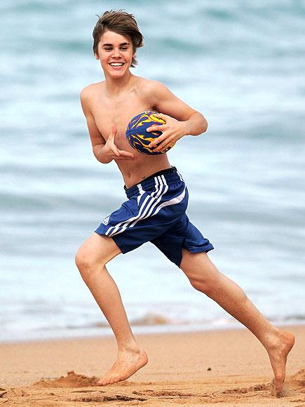 Foto Justin Bieber di Pantai