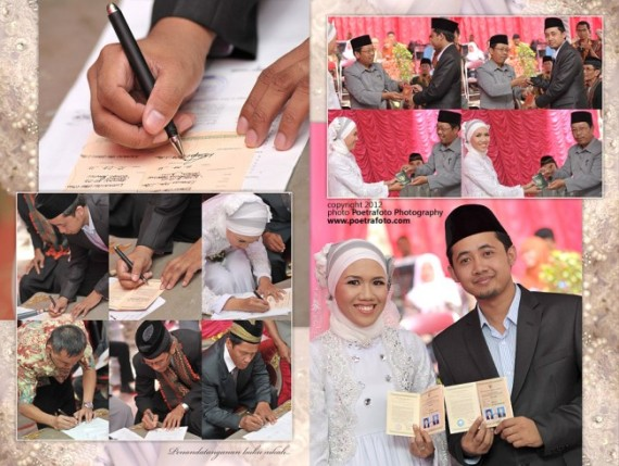 Contoh Desain Kolase Album Foto Wedding by Poetrafoto Photography Fotografer Yogyakarta Indonesia