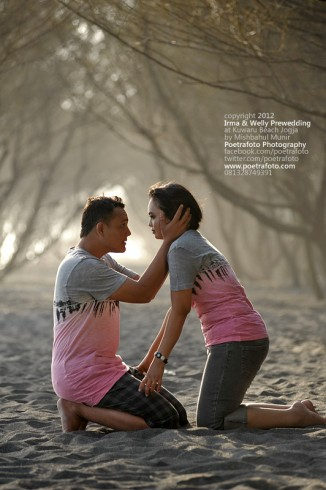 Romantic Outdoor Prewedding Photo Concept at Yogyakarta Indonesia