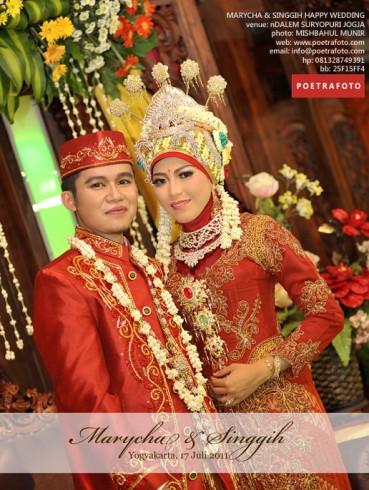 Foto Pernikahan Adat Jawa Berjilbab Islami MARYCHA & SINGGIH WEDDING di nDalem Suryo Puri Jogja