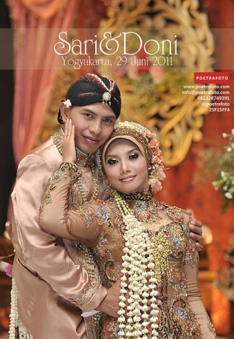 Foto Portrait SARI & DONI WEDDING di University Club UGM Yogyakarta