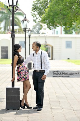 Foto Pre Wedding Tanusha & Dashat Engagement Photo at Benteng Vredeburg Yogyakarta